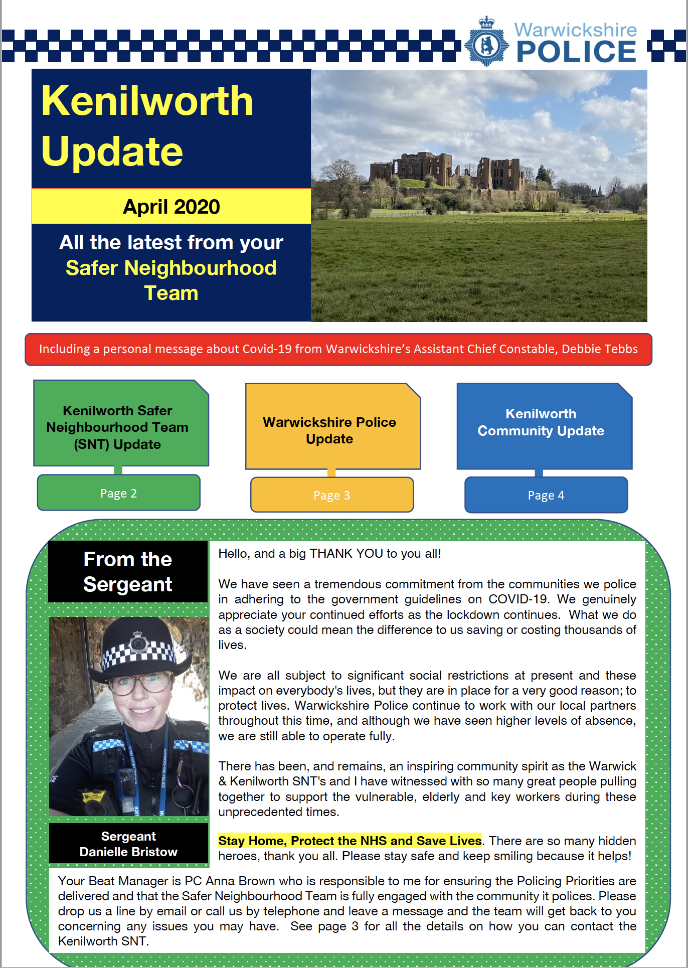 Kenilworth Update April 2020